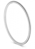 AC48- Sterling Silver Circular Ridged Arm Candy Bangle
