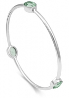 AC7 - Sterling Silver and Green Amethyst Arm Candy Bangle