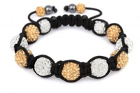 CB11 WHITE AND GOLD CRYSTAL