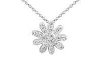 PF015 15mm white crystal flower pendant with silver fittings.jpg
