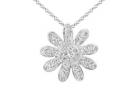 PF020 20mm white crystal flower pendant with silver fittings.jpg