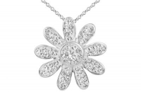 PF025 25mm white crystal flower pendant with silver fittings.jpg