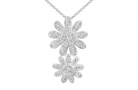 PF026 20mm and 15mm white crystal flower pendant with silver fittings.jpg
